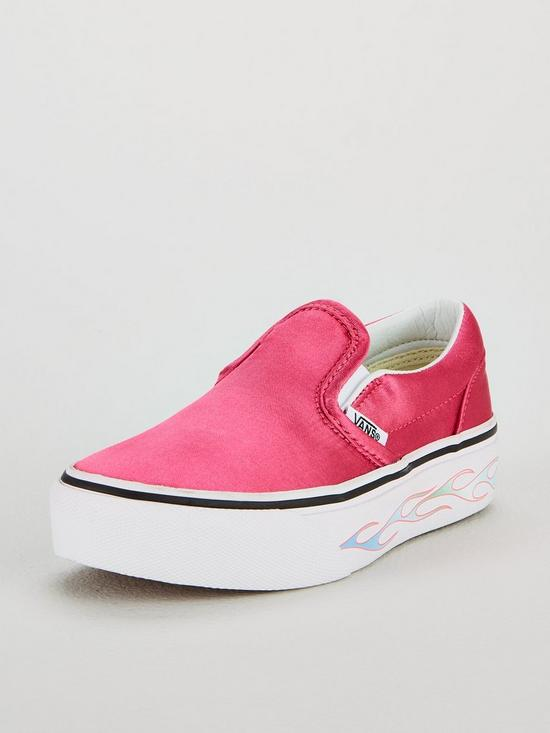 Vans Classic Flame Slip-On Platform Childrens Trainers - Pink  cfd47acd2