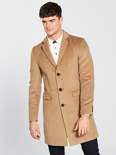 river-island-camel-button-up-overcoat