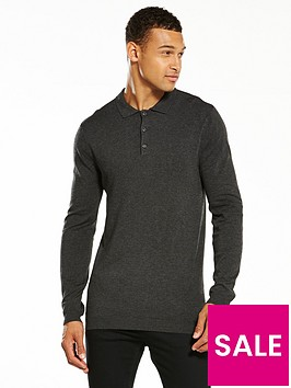 v-by-very-long-sleeved-knitted-polo--nbspcharcoal-marl