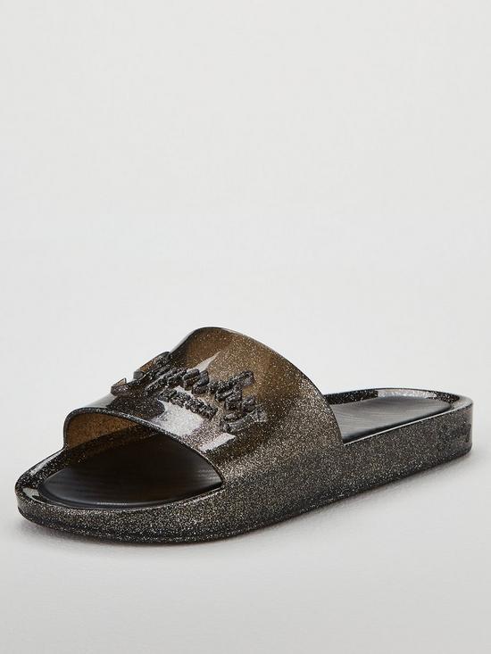 e50bf1428 Superdry Glittered Moulded Pool Slider Shoes - Pewter