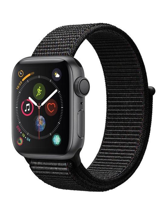 eefe444114ed06 Apple Watch Series 4 (GPS), 40mm Space Grey Aluminium Case with Black Sport  Loop