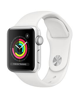 Compare prices with Phone Retailers Comaprison to buy a Apple Watch Series 3 (2018 Gps), 38Mm Silver Aluminium Case With White Sport Band