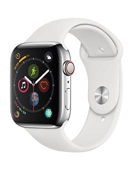Compare prices with Phone Retailers Comaprison to buy a Apple Watch Series 4 (Gps + Cellular), 44Mm Stainless Steel Case With White Sport Band