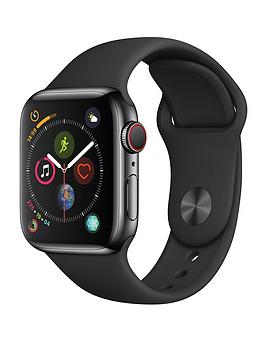 Apple Watch Series 4 (Gps + Cellular), 40Mm Space Black Stainless Steel Case With Black Sport Band cheapest retail price