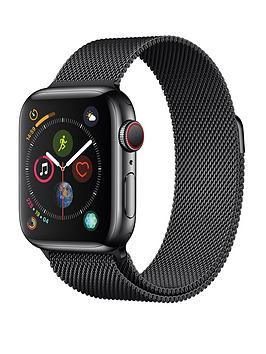 Apple Watch Series 4 (Gps + Cellular), 40Mm Space Black Stainless Steel Case With Space Black Milanese Loop cheapest retail price
