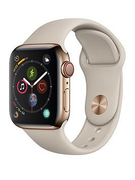 Apple Watch Series 4 (Gps + Cellular), 40Mm Gold Stainless Steel Case With Stone Sport Band cheapest retail price