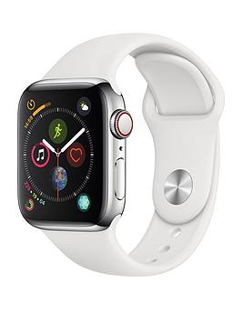 Apple Watch Series 4 (Gps + Cellular), 40Mm Stainless Steel Case With White Sport Band cheapest retail price