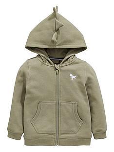 0e7df0f01c Mini V by Very Boys Dinosaur Spike Hood Zip Through Hoodie - Khaki
