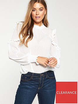 v-by-very-ruffle-dobby-blouse-white