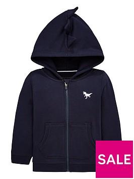 v-by-very-dinosaur-spike-hood-zip-through-hoodie-navy
