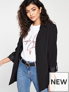 v-by-very-tab-detail-jacket-black