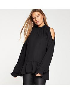 v-by-very-high-neck-cold-shoulder-top-black