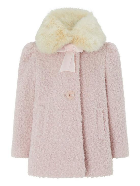 d05bf3bd5 Monsoon Baby Beatrice Boucle Coat