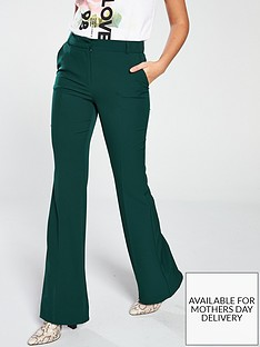 v-by-very-flared-trouser-green