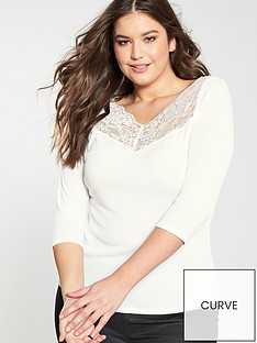 v-by-very-curve-lace-trim-rib-top-ivory