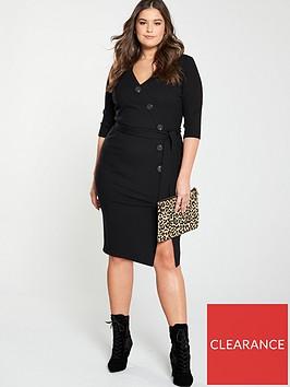v-by-very-curve-rib-button-through-dress-black