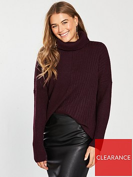 miss-selfridge-cosy-roll-neck-knitted-jumper-burgundynbsp