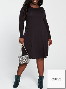 2a02e644f4c V by Very Curve Jersey Swing Dress