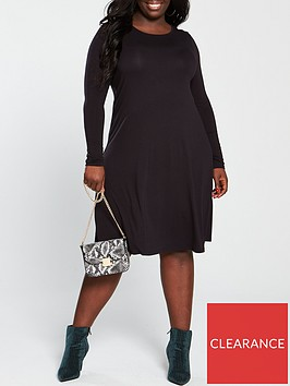 v-by-very-curve-valuenbspjersey-swing-dress-black