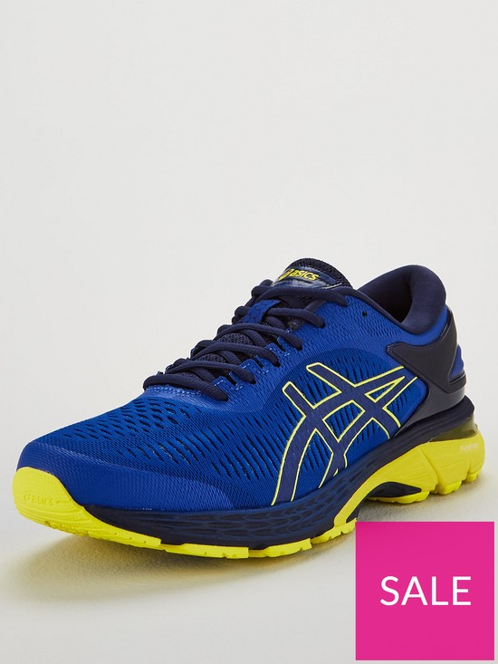 58caf52e78935 Asics Gel-Kayano 25 Trainers - Blue/Yellow | very.co.uk