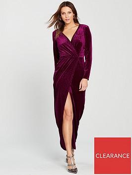miss-selfridge-animal-devorenbspwrap-maxi-dress-burgundy