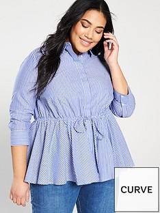 v-by-very-curve-tie-waist-cotton-shirt-stripe