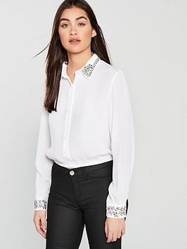 miss-selfridge-embellished-collar-shirt