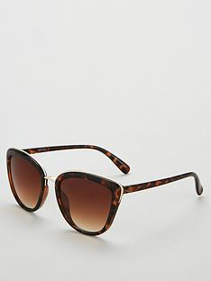ed0b6e9fee V by Very Cat Eye Sunglasses With Metal Rim