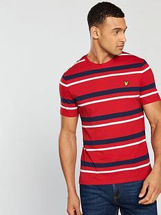 lyle-scott-stripe-t-shirt-dark-red