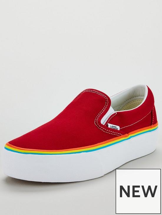 Vans UA Rainbow Classic Slip-On Platform  4b89f38b5