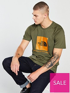 the-north-face-short-sleeve-raglan-redbox-t-shirt-green