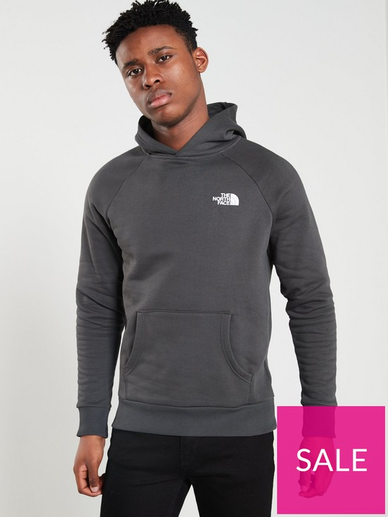 a863540b0 THE NORTH FACE Raglan Redbox Hoodie - Grey | very.co.uk
