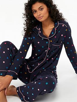 monsoon-lyra-spot-pyjama-set-in-bag-navy