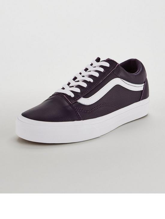 f8db3270d38 Vans UA Leather Old Skool - Purple White