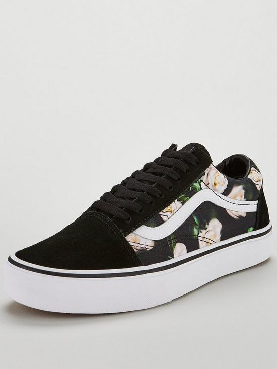 02d13bf650 Vans Floral Old Skool - Black White