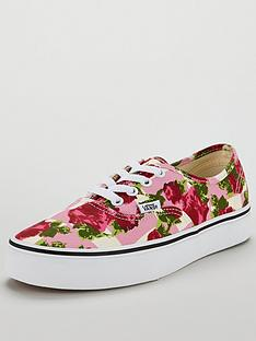 23447fbca6fc Vans Floral Authentic - Pink White