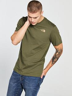 the-north-face-short-sleeve-red-box-t-shirt-green