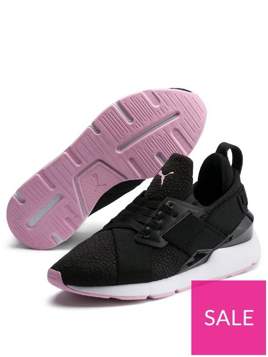 f4496f9837004 Puma Muse TZ - Black/Pink   very.co.uk