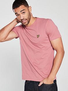 lyle-scott-crew-neck-t-shirt-shadow-pink