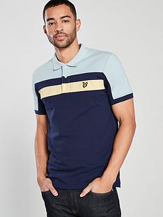 f6eb087fe Lyle   Scott Colour Block Polo Shirt