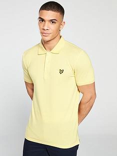 lyle-scott-short-sleeve-polo-shirt-vanilla-cream