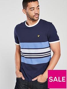 lyle-scott-pique-stripe-ringer-t-shirt
