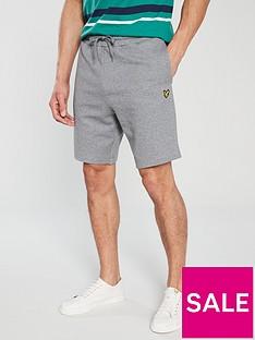 lyle-scott-sweat-shorts-mid-grey-marl