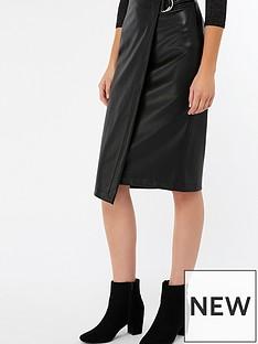 monsoon-wrap-faux-leather-skirt-black