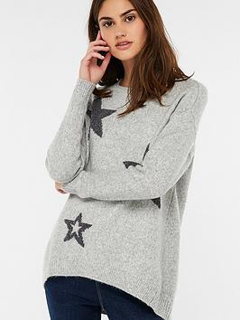 monsoon-celine-chenille-star-jumper-grey-marl