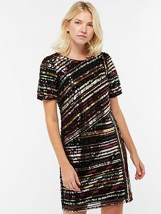 monsoon-rainey-sequin-stripe-tunic-dress--nbspblack