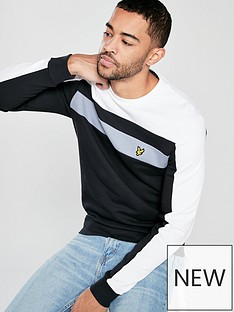 lyle-scott-colour-block-sweatshirt