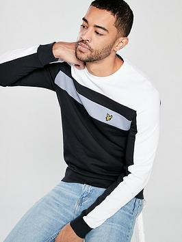 lyle-scott-colour-block-sweatshirt