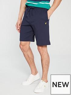 lyle-scott-sweat-shorts-navy