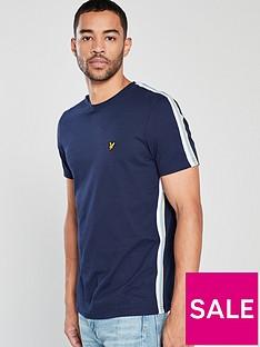 lyle-scott-side-stripe-t-shirt-navy